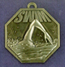 907 swimming front medal