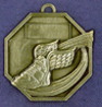 908 winged boot back medal